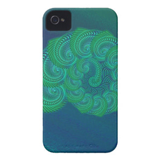 Teal, blue and green shell graphic. blackberry bold cases