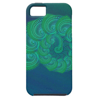 Teal, blue and green shell graphic. case for the iPhone 5
