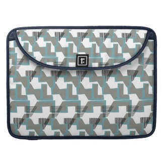 Teal blue and grey abstract pattern sleeve for MacBooks
