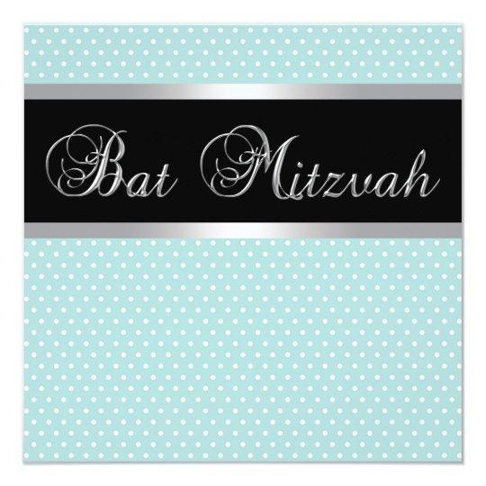 Teal Blue Bat Mitzvah Invitations