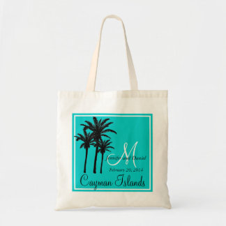 Teal Blue Beach Wedding Palm Trees