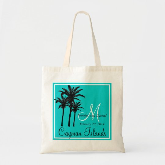 Teal Blue Beach Wedding Palm Trees