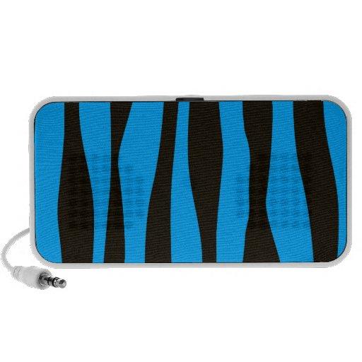 Teal Blue Black Tiger Zebra Stripes Wild Animal Notebook Speaker