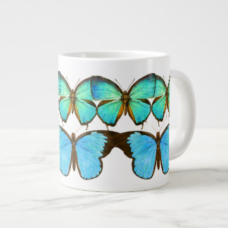 Teal Blue Butterflies Wildlife Animals Mug