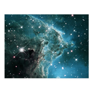 Teal Blue Colored Monkey Head Nebula Postcard