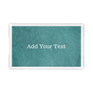 Teal Blue Digital Fabric Texture by Shirley Taylor Acrylic Tray