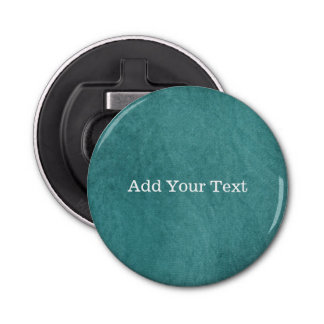 Teal Blue Digital Fabric Texture by Shirley Taylor Bottle Opener