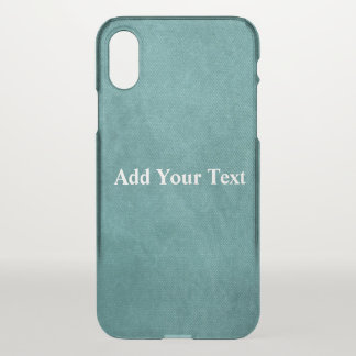 Teal Blue Digital Fabric Texture by Shirley Taylor iPhone X Case