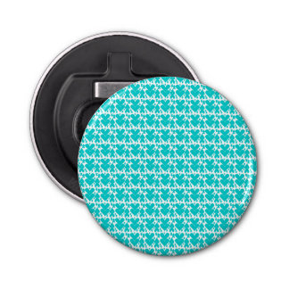 Teal Blue Double Hearts Pattern
