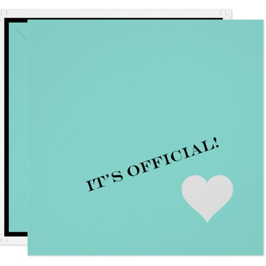 Teal Blue Engagement Tiffany Inspired Invitation