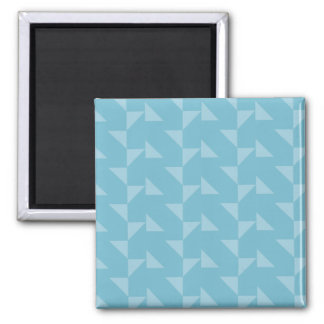 Teal Blue Geometric Abstract Pattern Magnets