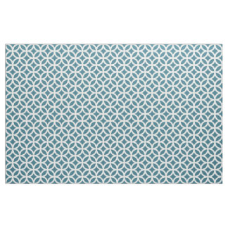 Teal Blue Geometric Pattern Fabric