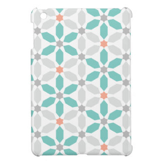 Teal Blue Geometric Pattern iPad Mini Cases
