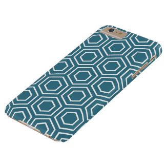 Teal Blue Geometric Pattern iPhone 6 Plus Case