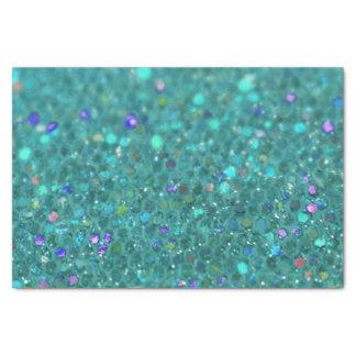 Teal Blue Glitter Tissue Paper