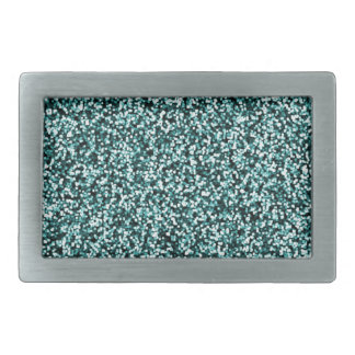 Teal Blue Green Faux Glitter Belt Buckles