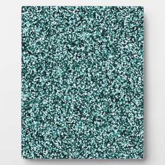 Teal Blue Green Faux Glitter Plaque