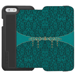 Teal Blue Green Lace With Jewelry Incipio Watson™ iPhone 6 Wallet Case