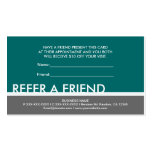Teal blue green simple refer a friend cards business cards