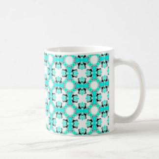 Teal Blue Green Stars Abstract Modern Pattern Coffee Mug