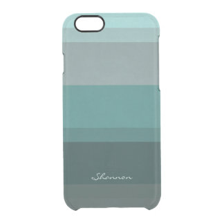 Teal Blue Green Subtle Chic Striped iPhone 6 case