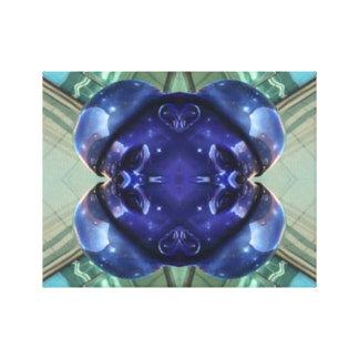 Teal Blue Mod Geometric Contemporary Art Canvas Canvas Print