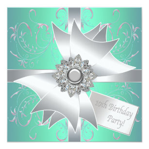 10th birthday invitations zazzle teal blue pink 10th birthday party invitation stopboris Images