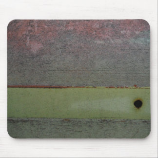 Teal Blue  Pink Green rusted Mouse Pad