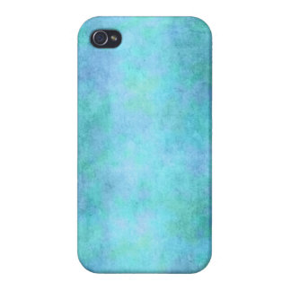 Teal Blue, Purple, Aqua, and Violet Watercolor iPhone 4 Covers