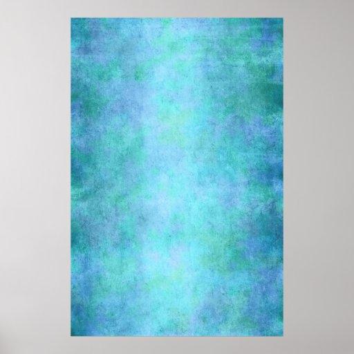 Teal Blue, Purple, Aqua, and Violet Watercolor Poster