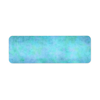 Teal Blue, Purple, Aqua, and Violet Watercolor Return Address Label