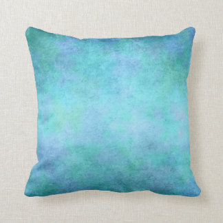 Teal Blue, Purple, Aqua, and Violet Watercolor Throw Pillow