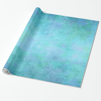 Teal Blue, Purple, Aqua, and Violet Watercolor Wrapping Paper