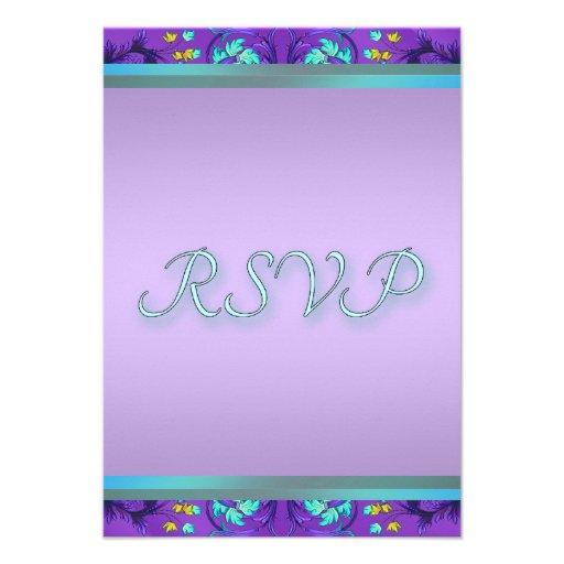Teal Blue Purple RSVP Template Announcements