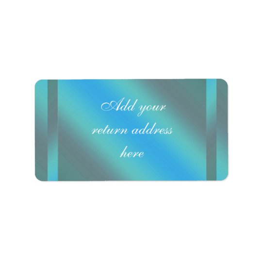 Teal Blue Return Address Labels