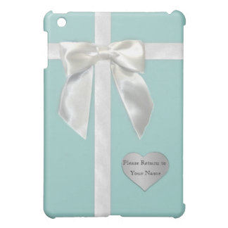 """Teal Blue Ribbon with """"Please Return to"""" iPad Mini Cover"""