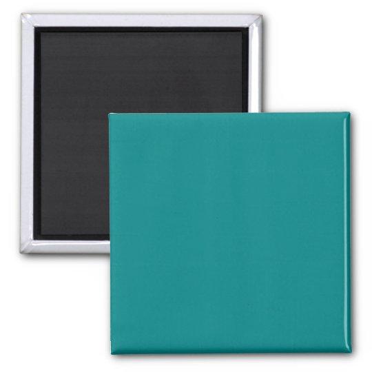 Teal Blue Turquoise Aqua Solid Colour Background Magnet