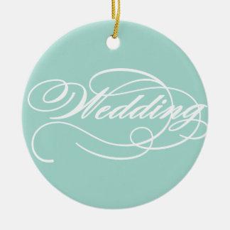 Teal blue Wedding ornament