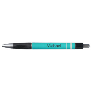 Teal Blue with Silver Stripes | Personalize