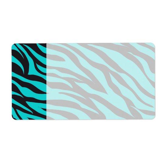 Teal Blue Zebra Stripes Wild Animal Prints Novelty