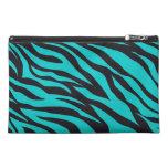 Teal Blue Zebra Stripes Wild Animal Prints Novelty Travel Accessories Bags