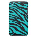 Teal Blue Zebra Stripes Wild Animal Prints Novelty Barely There iPod Case