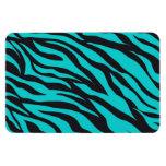Teal Blue Zebra Stripes Wild Animal Prints Novelty Rectangle Magnet