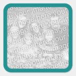 Teal Border Photo Sticker