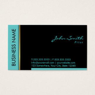 Teal Border Pilot/Aviator Business Card