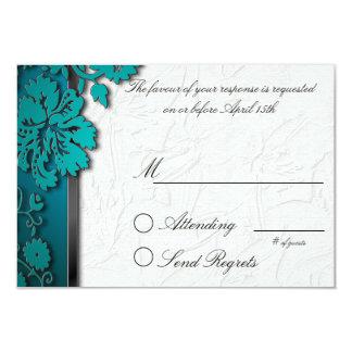 Teal Break Through Reply Card 9 Cm X 13 Cm Invitation Card