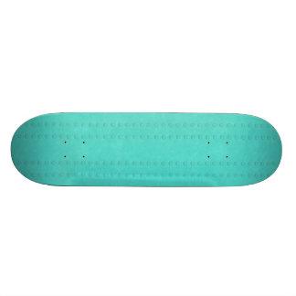 Teal bubble stripe patterned Skateboard