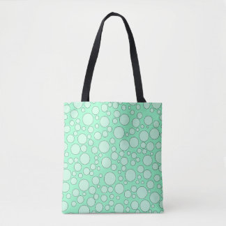 TEAL BUBBLES TOTE BAG