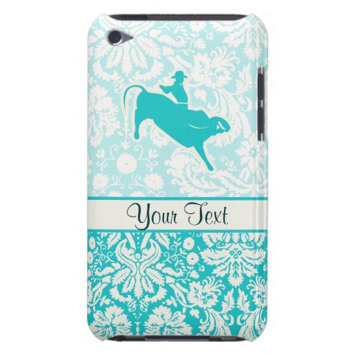 Teal Bull Riding Barely There iPod Covers
