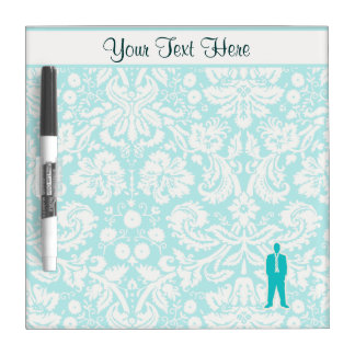 Teal Business Suit Dry Erase Board